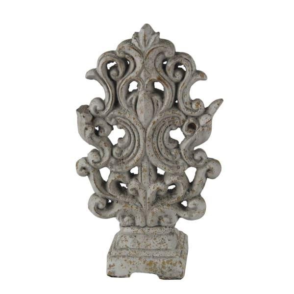 Ceramic Baroque Style Accent Sculpture