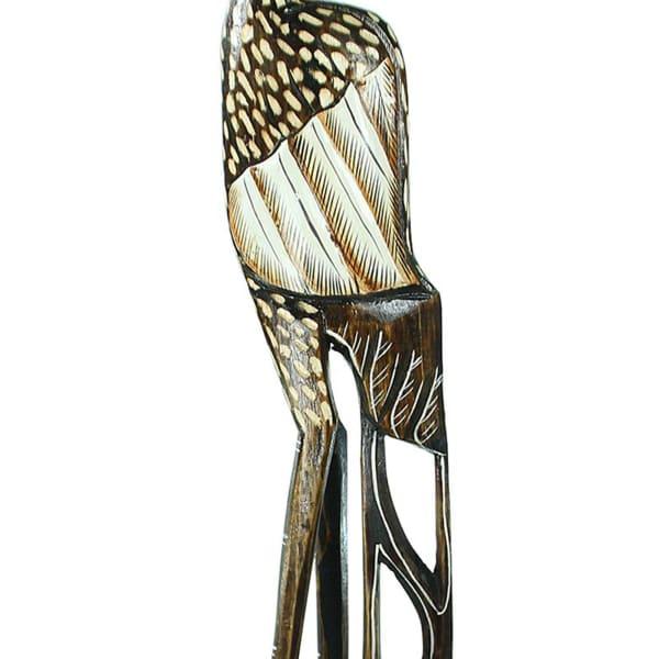 Wooden Heron Sculpture