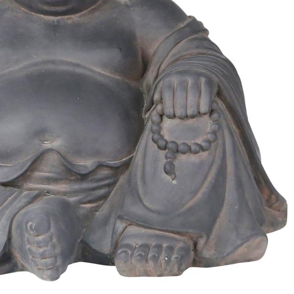 Laughing Buddha Gray Figurine