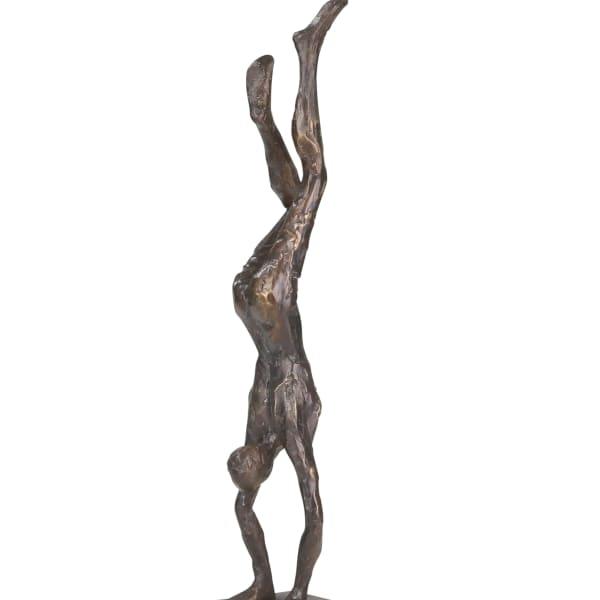 Male Gymnast Gray Figurine