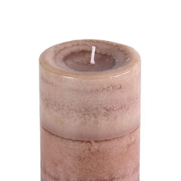 Pier 1 Cuban Vanilla 3x6 Layered Pillar Candle