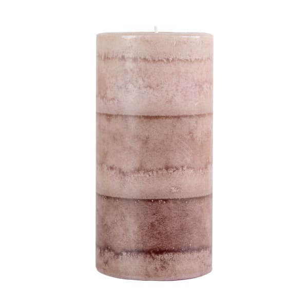 Pier 1 Vintage Linens Layered 3x6 Pillar Candle