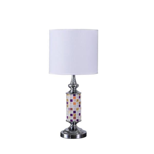 Vicki Chrome Glass Mosaic Table Lamp