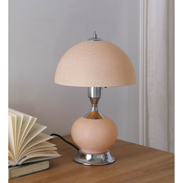 Erte Art Deco Glass with Night Light Table Lamp