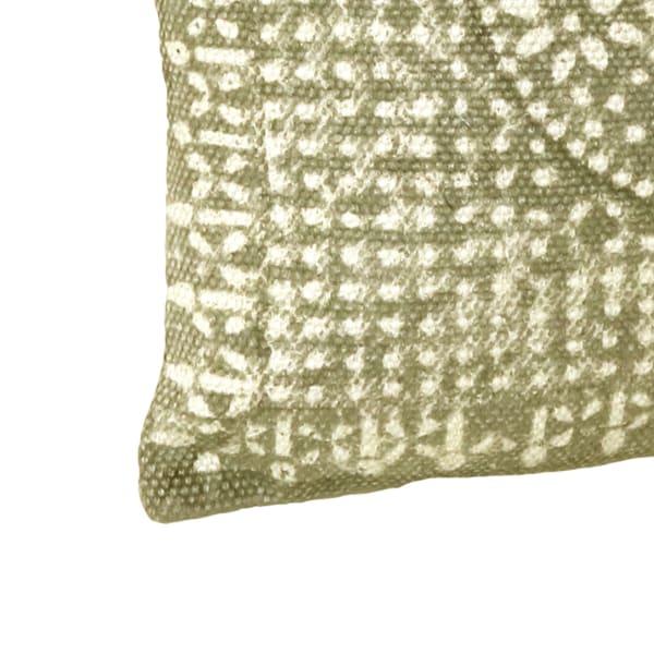 Block Printing Brown Pillow