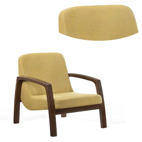 Yellow Block Legged Lounge Chair
