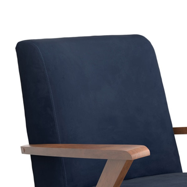 Blue and Brown Contemporary Armchair