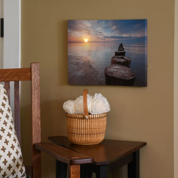 Pier Sunset Lighted with Remote Control Wall Art