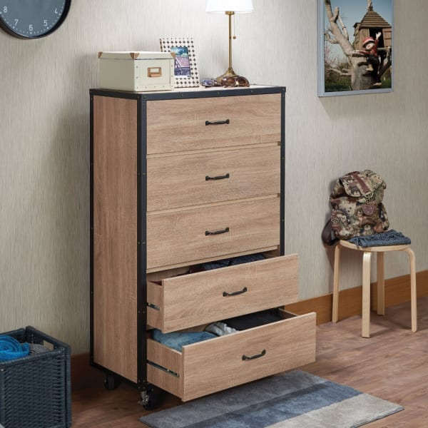 Weathered Light Oak Brown Chest
