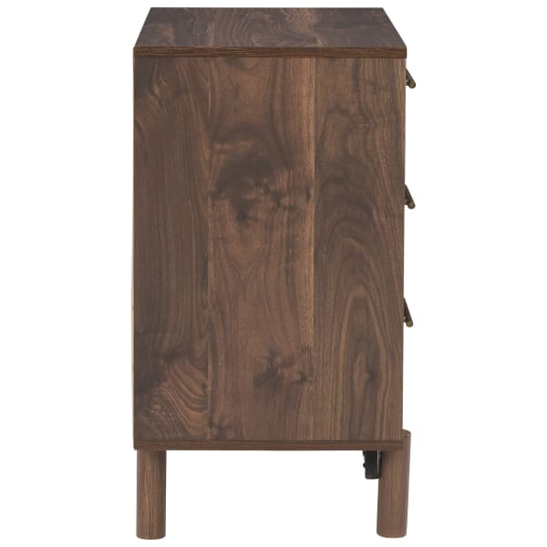 Brown 3 Drawer with Grain Detail Wooden Chest