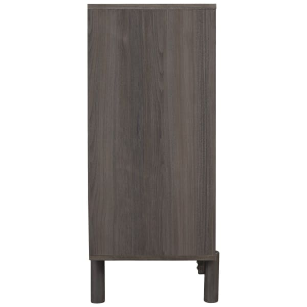Gray 4 Drawer Wooden Chest