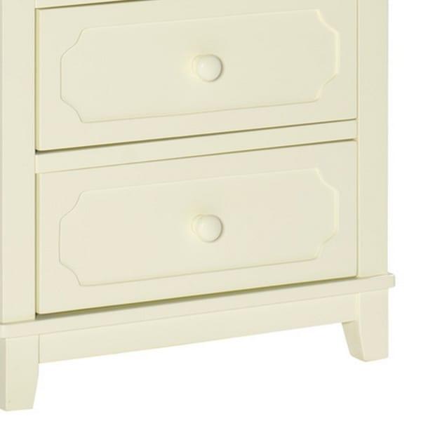 Antique White 5 Drawer Wooden Chest