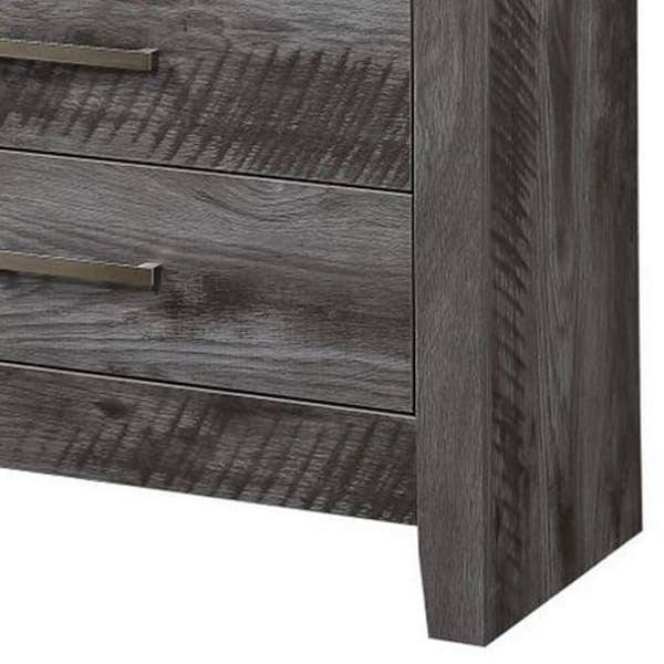 Rustic Gray 5 Drawer Wooden Chest