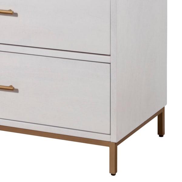 White 3 Drawer Wooden Chest