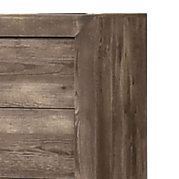 Farmhouse Brown 5 Drawer Wooden Chest