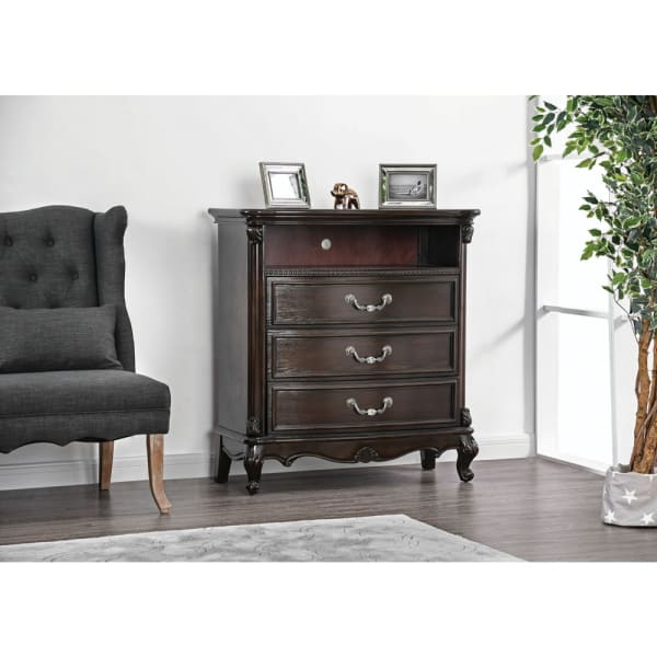 3 Drawer with Open Shelf Media Chest