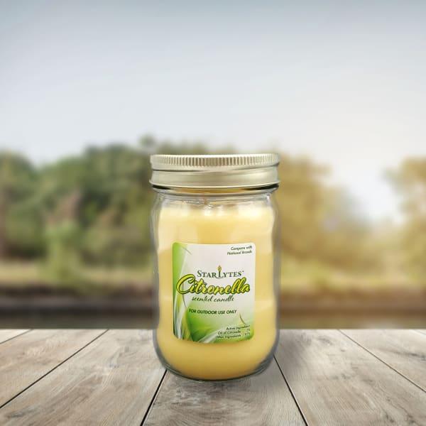 9oz  Mason Jars Citronella Set of 3 Scented Candles