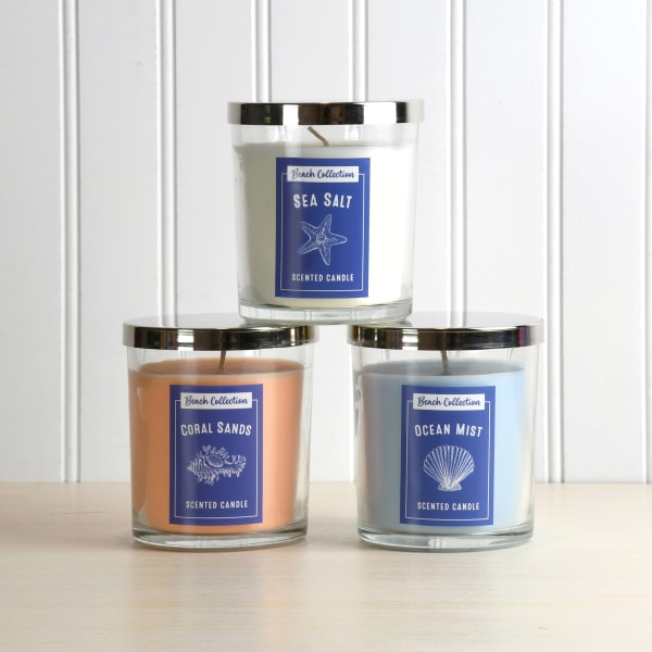 Beach Scented Set of 3 Candle Collection