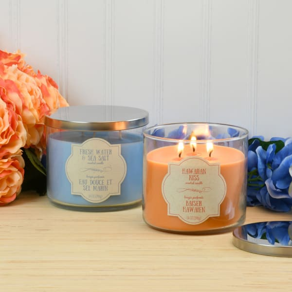Three Wick Island Scented Set of 2 Candle Collection