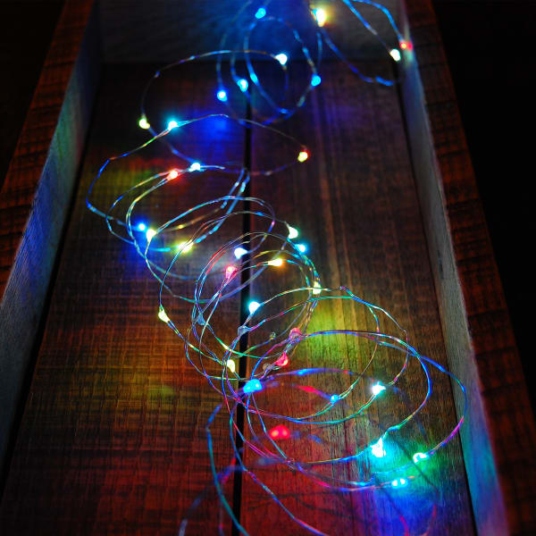 Battery Operated Twinkling Multicolor LED Set of 2 Fairy String Lights