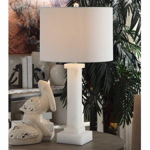 Nara Column Alabaster Table Lamp