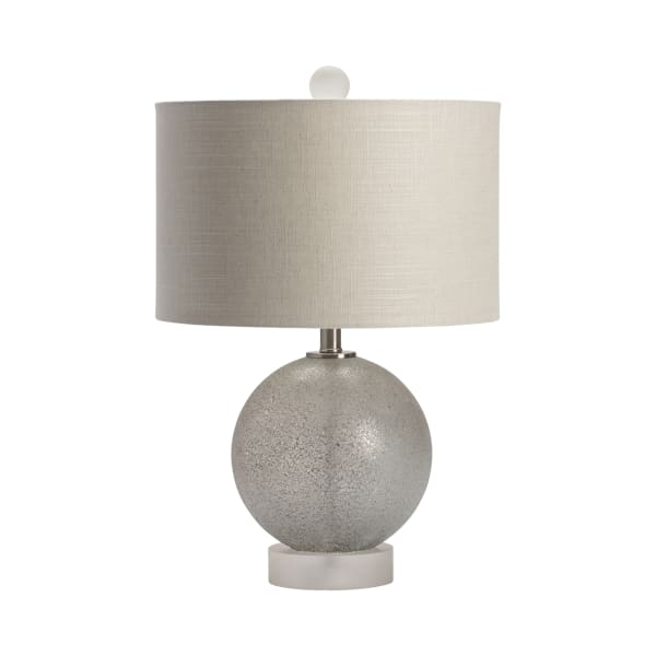 Amara Frosted Glass and Crystal Table Lamp