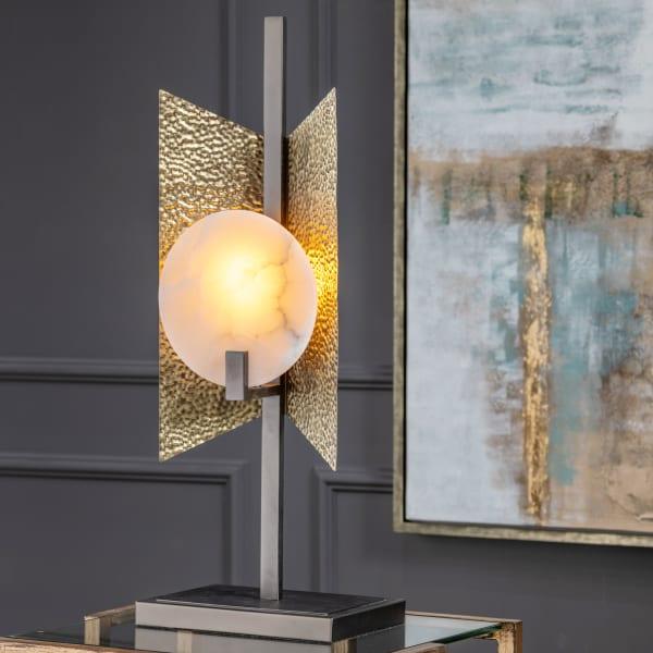 Ethan Modern Torchiere Bronze Accent Lamp