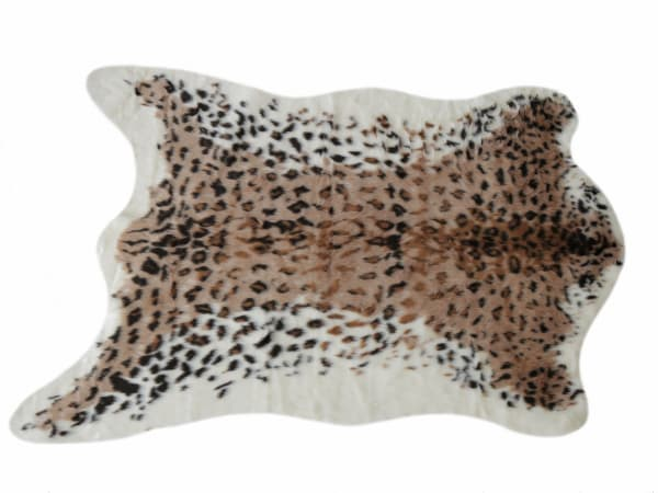 Faux Leopard Hide Area Rug