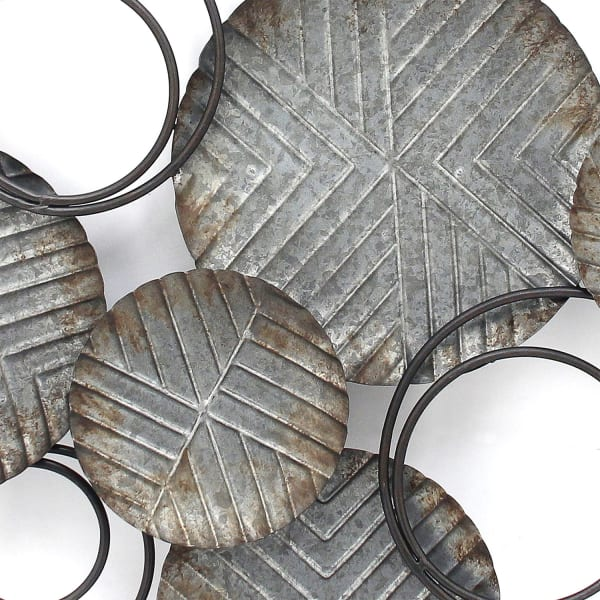 Farmhouse Galvanized Metal Plates Wall Decor