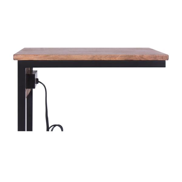 Light Brown Wood Top Tech C-Table