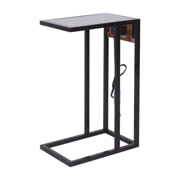Dark Brown Wood Top Tech C-Table