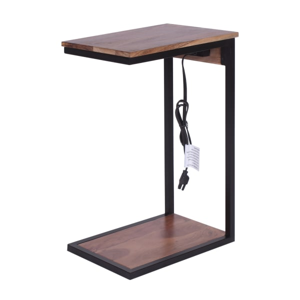 Wood Top and Wood Base Tech C-Table