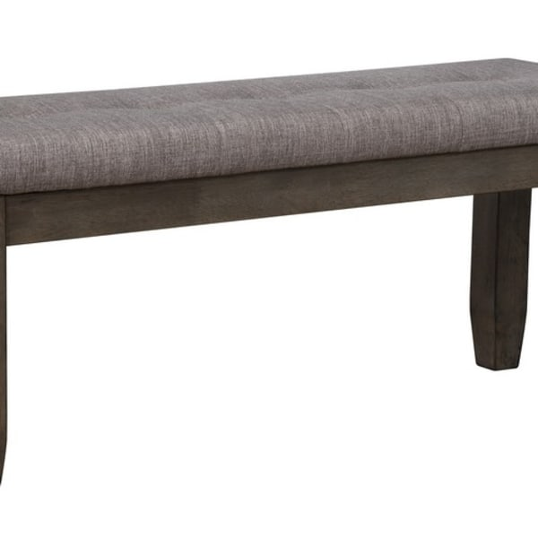 Brown and Gray Upholstered Seat Bench