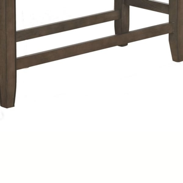 Brown and Gray Counter Height Upholstered  Bench