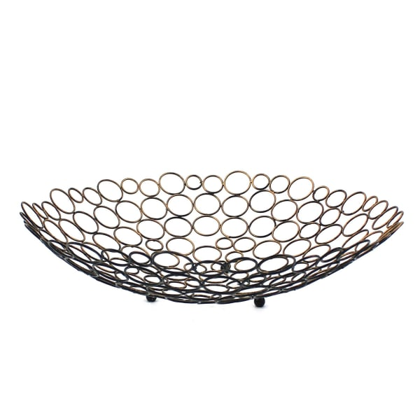 Mesh Gold and Black Metal Tray