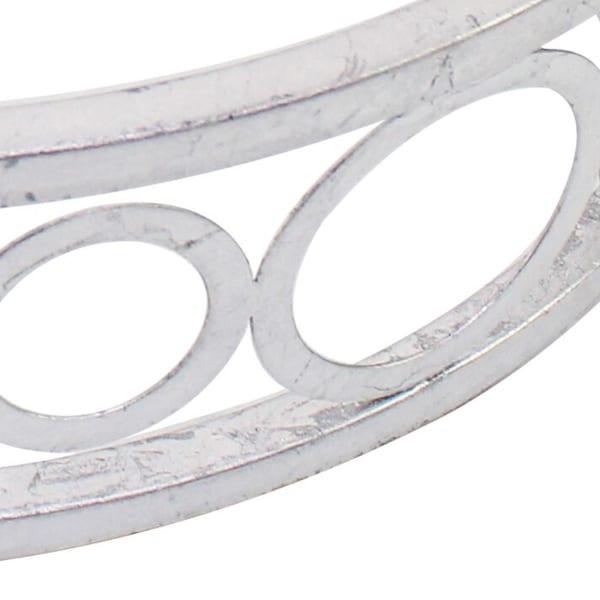 Circles Mirror Panel Round Metal Tray