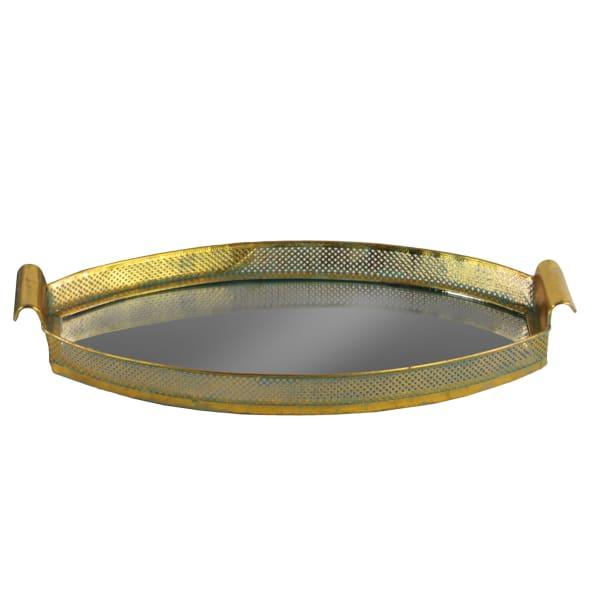 Gold Set of 2 Metal Tray