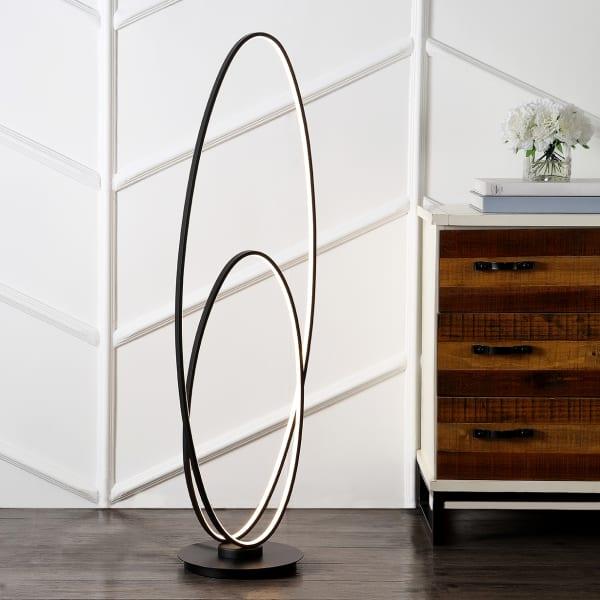 Calder Metal Oval LED Floor Lamp