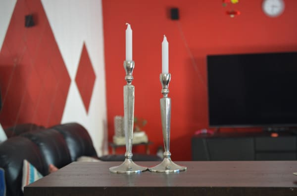 Rustic Set of 2 Candle Holders