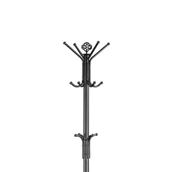 Sturdy Classic Black Satin Finish Coat Rack