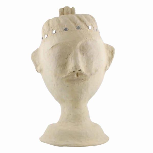 Paper Male Bust Sculpture