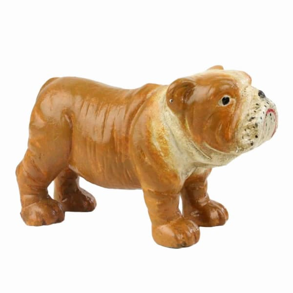 Bulldog Brown and White Figurine