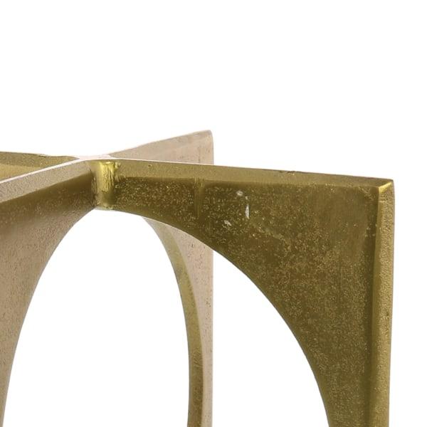 Metal Geometric Brass Sculpture
