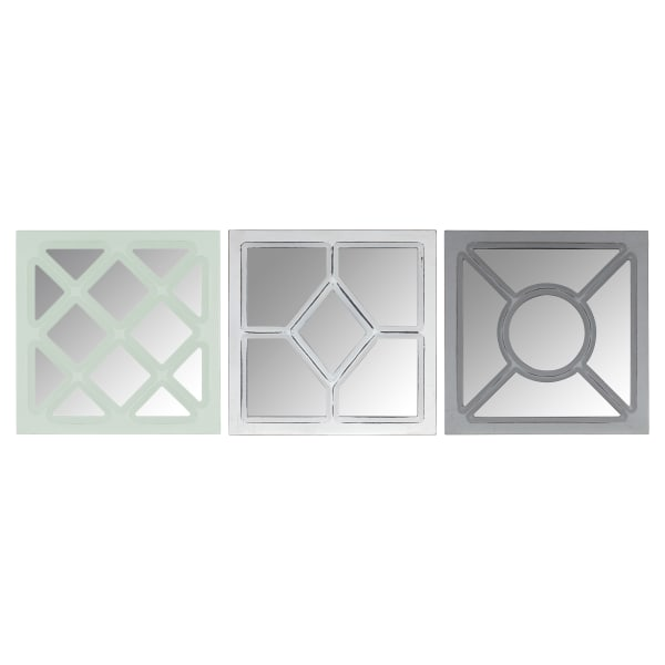 Geometric Set of 3 Wall Mirrors
