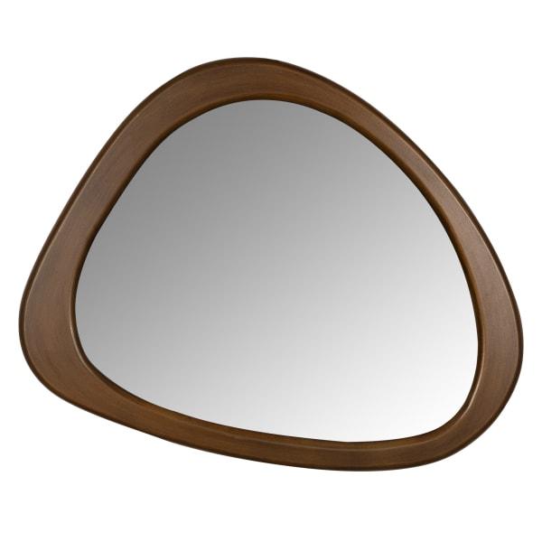 Asymmetrical Wooden Wall Mirror