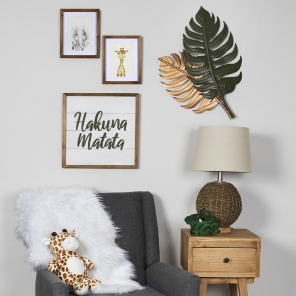 Copper and Green Botanical Wall Decor
