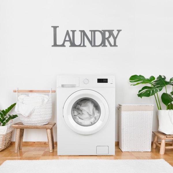 Gray Laundry Wooden Wall Decor
