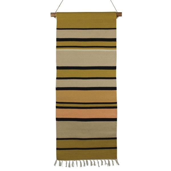 Multicolored Stripe Cotton Wall Hanging