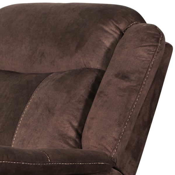 Contemporary Fabric Upholstered Glider Recliner