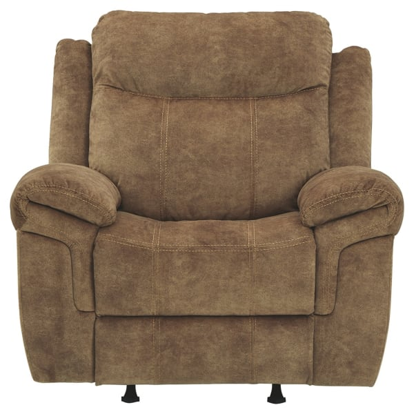 Fabric Upholstered Brown Recliner